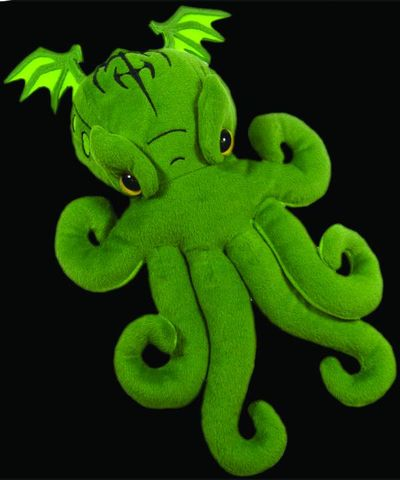 Cthulhu Dice Bag Plush and 12 Sided Cthulhu Dice