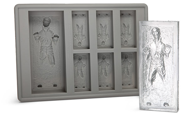 Han Solo Frozen in Carbonite and R2-D2 Ice Cube Trays