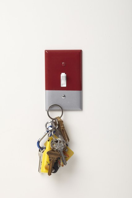 Magnetic Light Switch Cover Key Holder