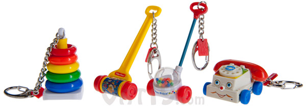 fisher price toys keychains Classic Fisher Price Toy Keychains