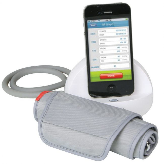 iphone blood pressure monitor 650x650 iPhone Blood Pressure Monitor