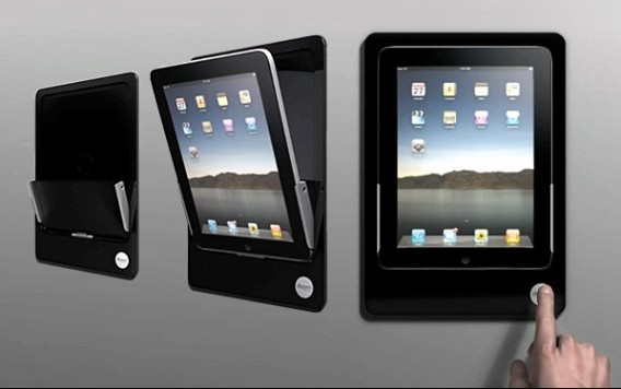 iRoom iDock Motorized In-Wall iPad Mount