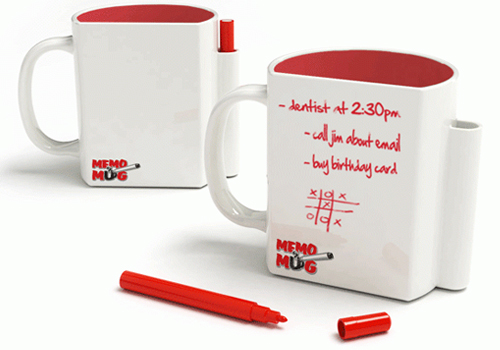 Memo Mug is a Mug and Notepad