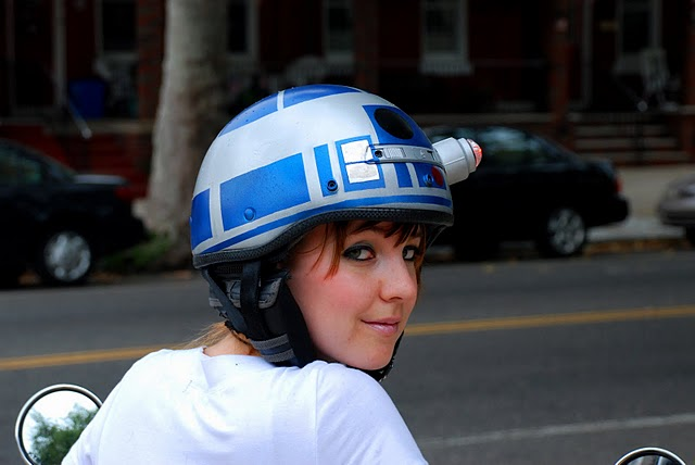 R2-D2 Motorcycle Helmet