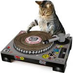 DJ Cat Scratch Turntable Probably Sounds Better than Skrillex