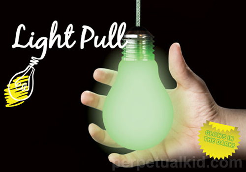 Glow in the Dark Light Bulb Pull
