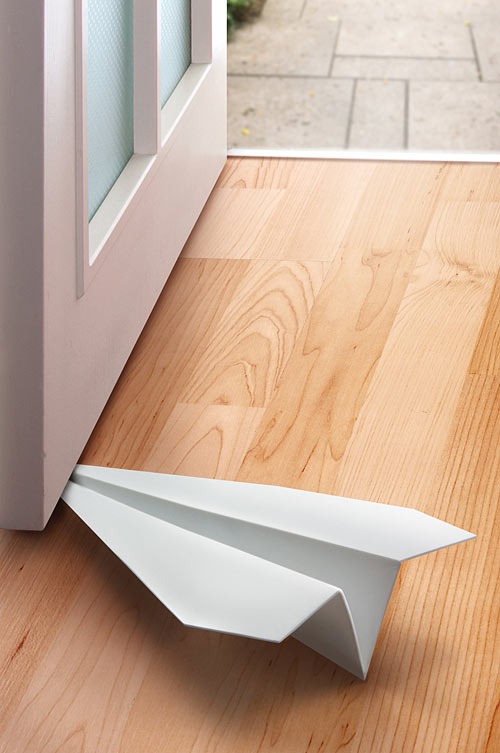 Paper Airplane Doorstopper Keeps Your Doors in a Holding Pattern