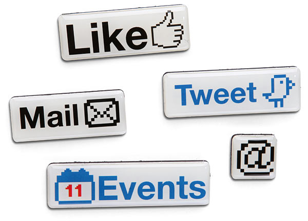 social media fridge magnets Pinboard