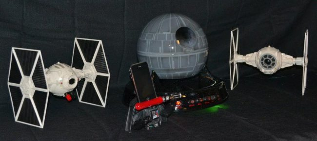 star wars stereo 650x290 Star Wars Surround System Mod with Death Star Subwoofer