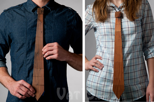 Wood Necktie Great for Working Stiffs