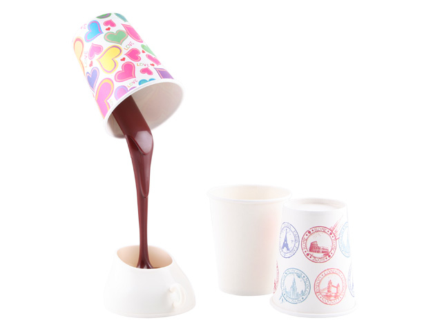 Hot Chocolate Pouring into a Mug USB Desk Lamp