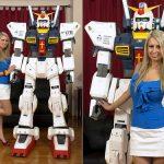 7 Foot Tall Papercraft Gundam Mecha Robot