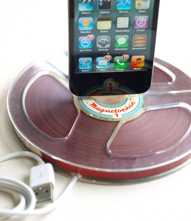 Vintage Reel to Reel Tape iPhone Dock
