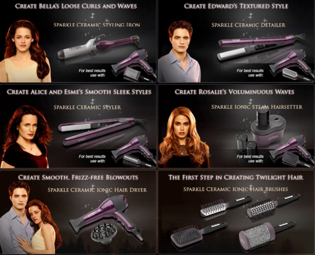 "Get ""Twilight Hair"" with Limited Edition Twilight Branded Styling Tools"