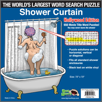 World's Largest Word Search Shower Curtain