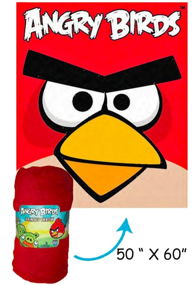 angry birds fleece throw Ultimate Angry Birds Gift Guide