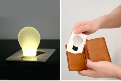 credit card light bulb 9 Gifts That Will Fit Inside Your Wallet