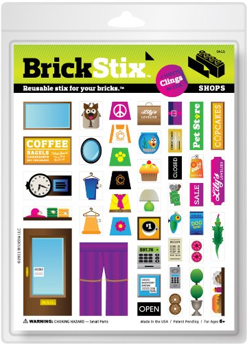 brickstix BrickStix, Reusable Decals for LEGO, Invented by a 9 Year Old Kid