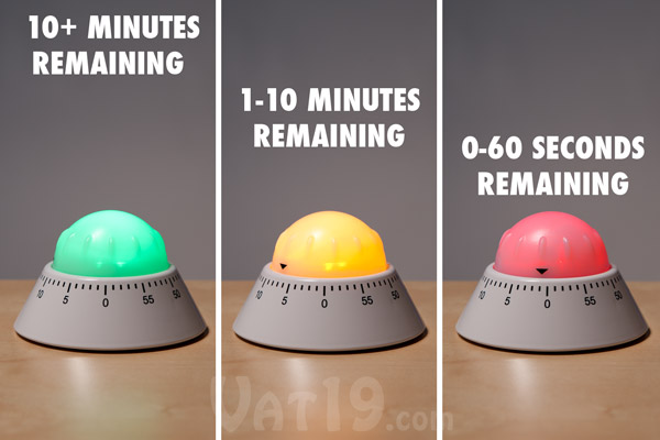 Cook from the Couch with a Color Alert Kitchen Timer