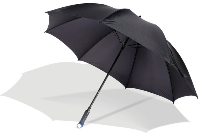 Umbrella with Flashlight Handle