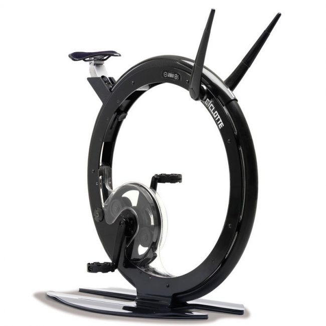 Stationary Monowheel Exercise Bicycle