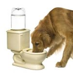 Toilet Bowl Dog or Cat Water Bowl