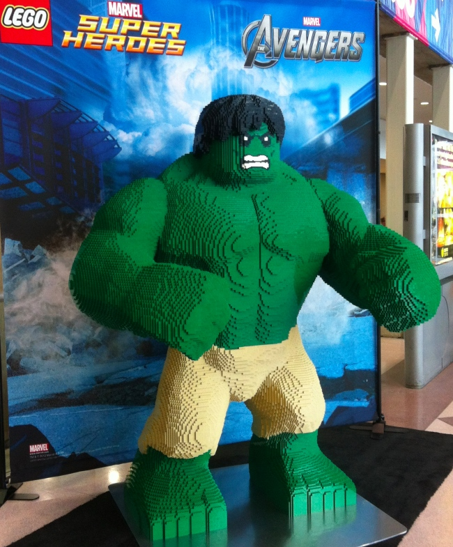 Lego Hulk from the Toy Fair
