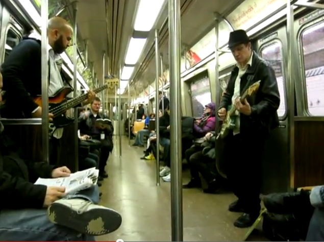 Super Mario Bros. Theme on NYC Subway