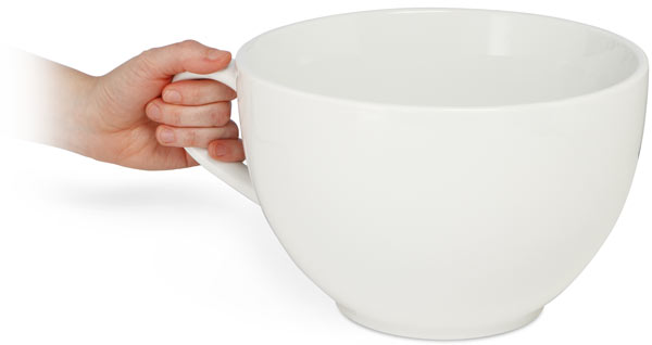 Giant Coffee Cup Holds 20 Cups