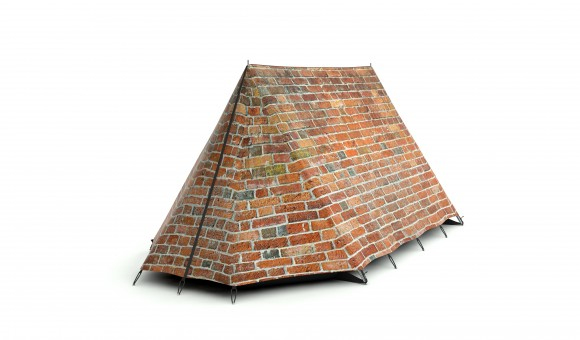 brick wall tent Crazy Tent Designs from FieldCandy