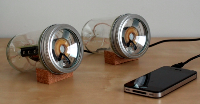 mason jar speakers Mason Jar Speakers