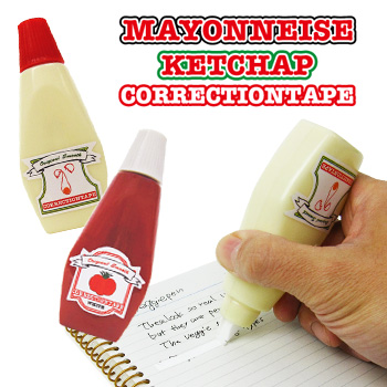 Condiment shaped white out craziest gadgets if publicscrutiny Gallery