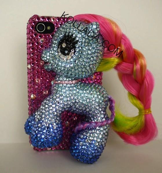 rainbow my little pony phone case Jenna Jamesons Blinged My Little Pony iPhone Case (SFW)