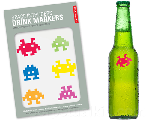 space invaders drink markers Pinboard