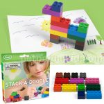 Lego + Crayons=Stack-a-Doodle