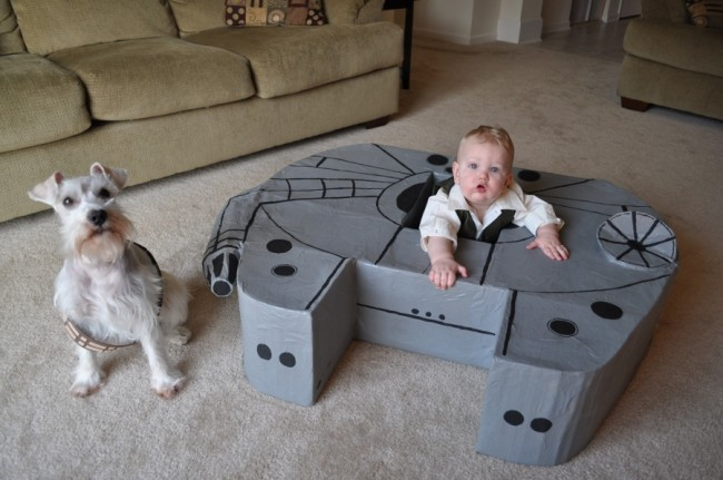 9month old millennium falcon 650x431 Does a 9 Month Old Need their Own Millennium Falcon? Yes.