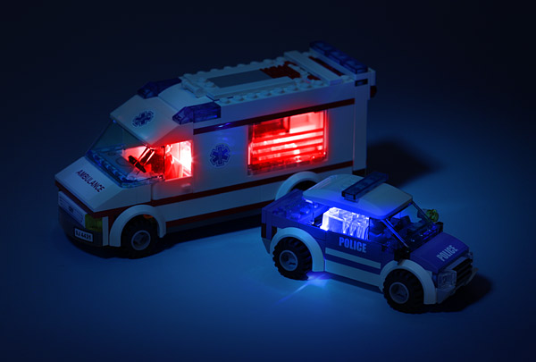 brick brites inuse Motion Activated Light Up Lego Bricks