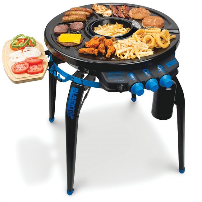 deep frying grill 650x650 Portable Deep Frying Grill