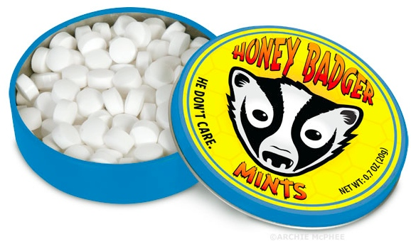 honey badger mints Honey Badger Mints Dont Care