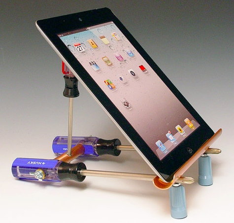 iPad Stands Made from Tools