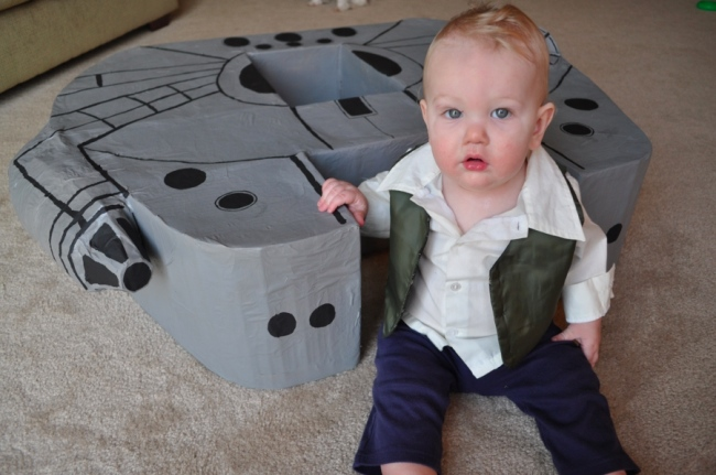 kid millennium falcon Does a 9 Month Old Need their Own Millennium Falcon? Yes.