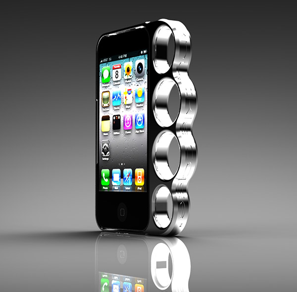 Weaponize your iPhone with a Knucklecase