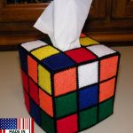 Rubik's Cube Tissue Box Cover (from Big Bang Theory)