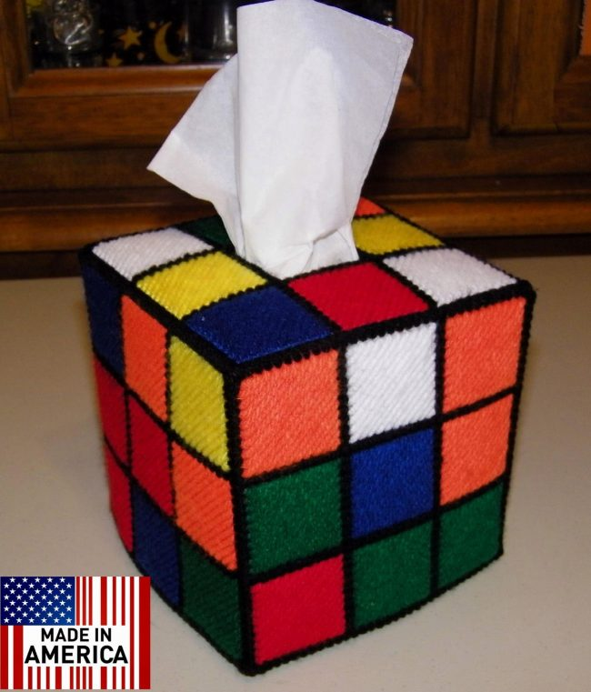 rubiks cube tissue box 650x761 Rubiks Cube Tissue Box Cover (from Big Bang Theory)