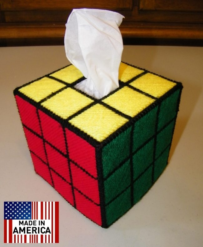 rubiks cube tissue box big bang theory 650x790 Rubiks Cube Tissue Box Cover (from Big Bang Theory)