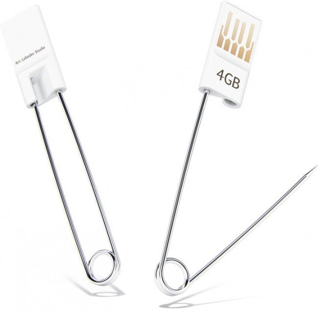 safety pin usb flash drive 650x635 Bulavkus Safety Pin USB Drive from Art Lebedev