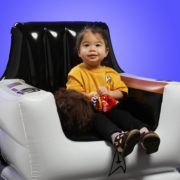 star trek inflatable chair Star Trek Inflatable Captains Chair