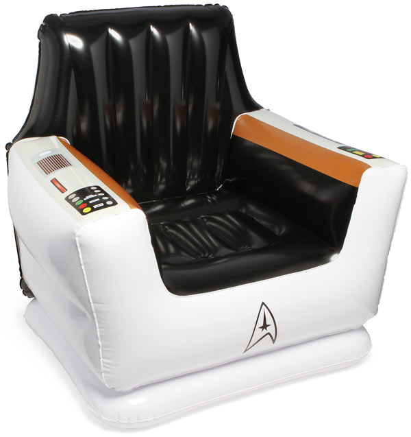 star trek inflatable captains chair Star Trek Inflatable Captains Chair