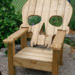 wood skull chair