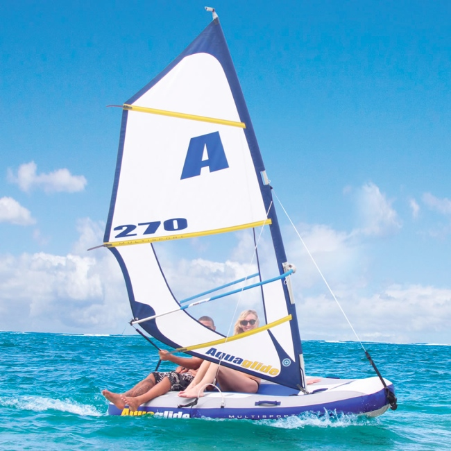 Aquaglide Inflatable Windsurfer Sailboat Towable And